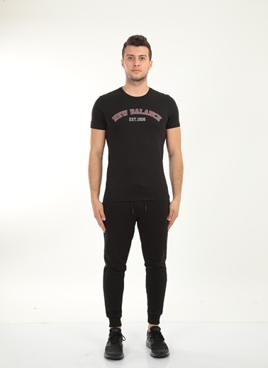 New Balance Erkek New Balance  Logo Tişört MPT026-BKSIYAH Renkli